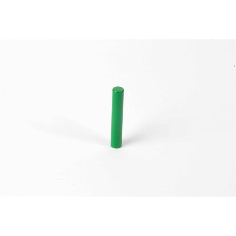 Farbige Zylinder: 1. grüner Zylinder