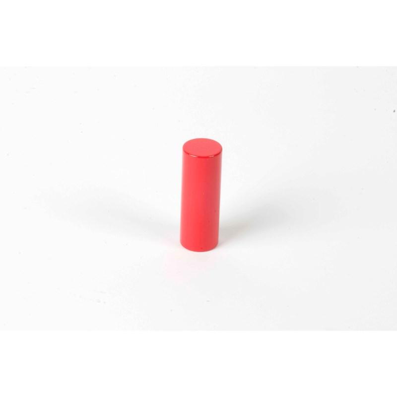 Farbige Zylinder: 3. roter Zylinder