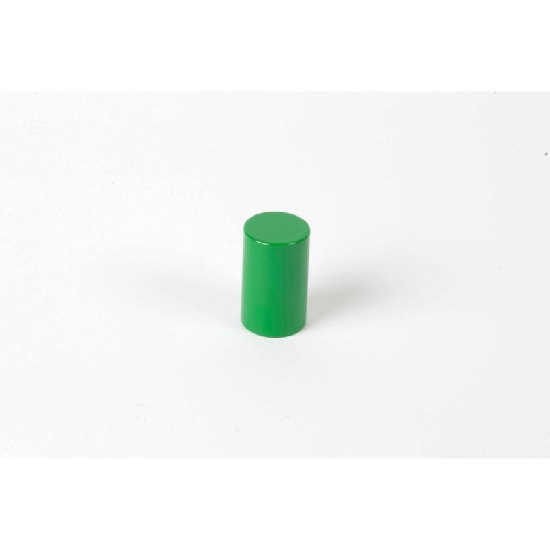 Farbige Zylinder: 4. grüner Zylinder