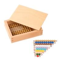 Kasten mit farbiger Perlentreppe und Zehnerstäbchen - Lose Perlen, Kunststoff (1 Satz)