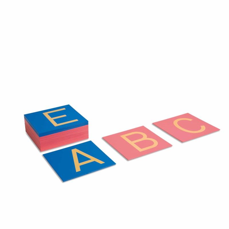 Sandpapiergroßbuchstaben - Druckschrift (internationale Version)
