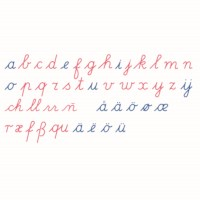 Bewegliches Alphabet: lateinische Ausgangsschrift (internationale Version)