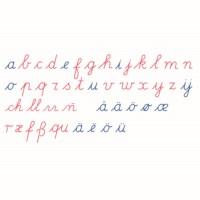 Bewegliches Alphabet, groß - lateinische Ausgangsschrift (internationale Version)