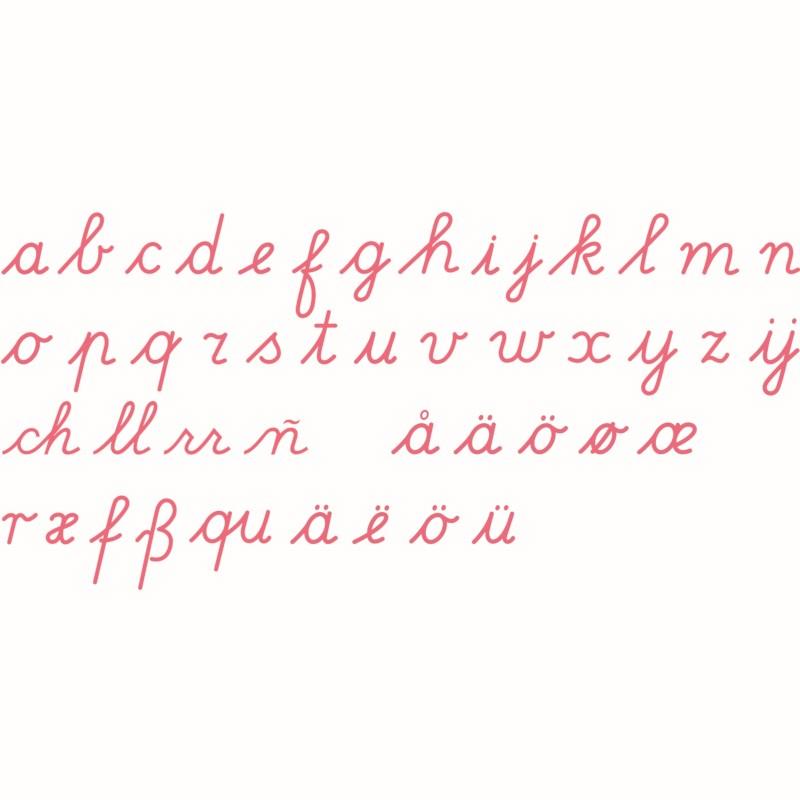 Bewegliches Alphabet, mittel (rot) - lateinische Ausgangsschrift
