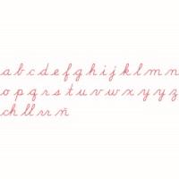 Medium Movable Alphabet: US Cursive - Red
