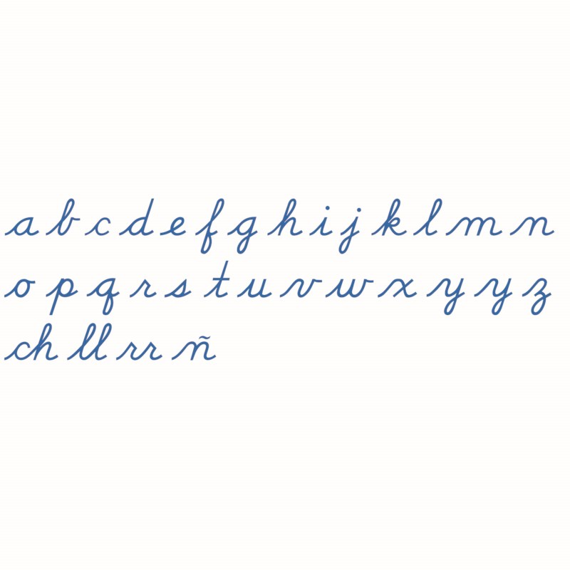 Medium Movable Alphabet: US Cursive - Blue