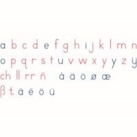Bewegliches Alphabet Holz: Druckschrift