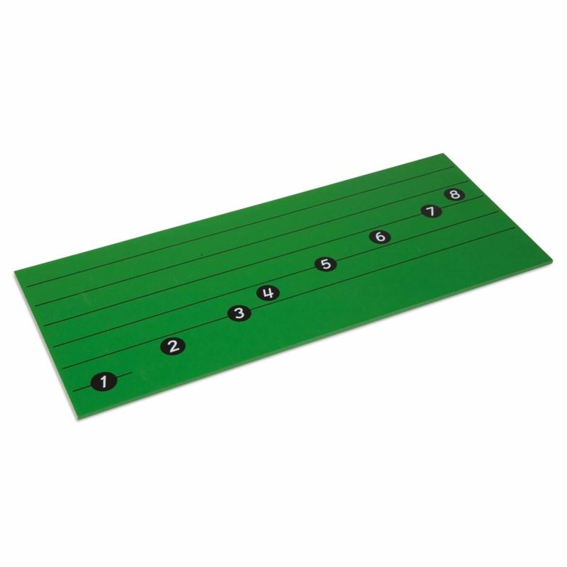 Brett mit Notenlinien für die C-Dur-Tonleiter