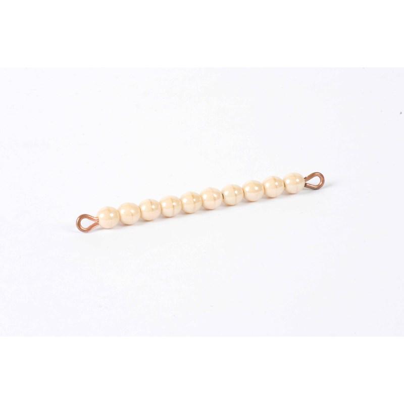Goldene Zehnerstange: Lose Perlen, Glas