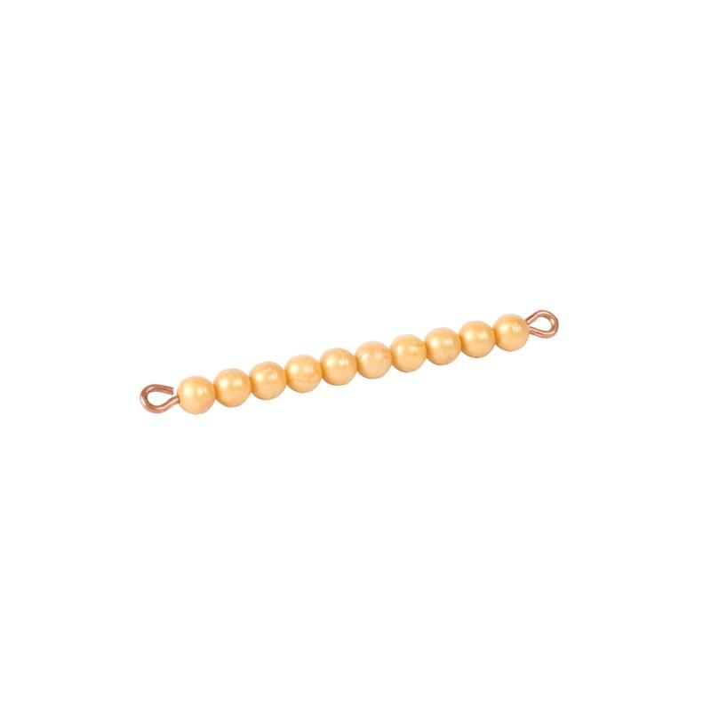 Goldene Zehnerstange: Lose Perlen, Kunststoff