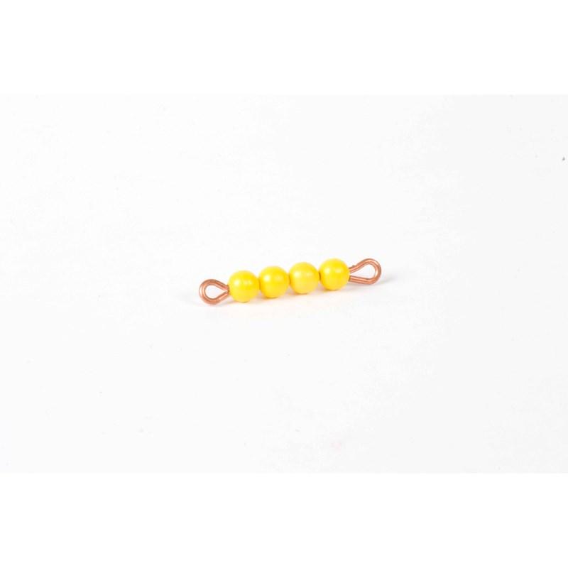 Perlenstäbchen von 4: Lose Perlen, Kunststoff