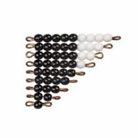 Schwarz-weiße Perlentreppen - Lose Perlen (1 Satz - Glas)