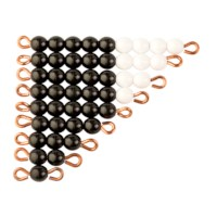 Schwarz-weiße Perlentreppen - Lose Perlen (1 Satz - Kunststoff)