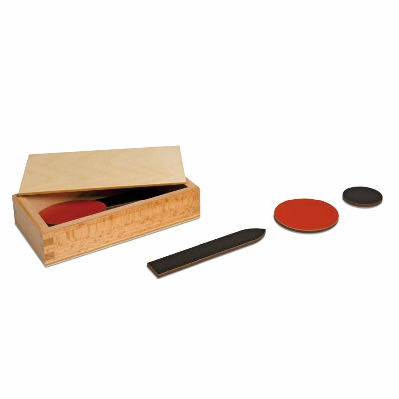 Material für die erste Arbeit mit Pfeilen und Kreisen