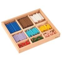 Kasten mit Perlenstäbchen für das Multiplikationsbrett - Lose Perlen (Kunststoff)