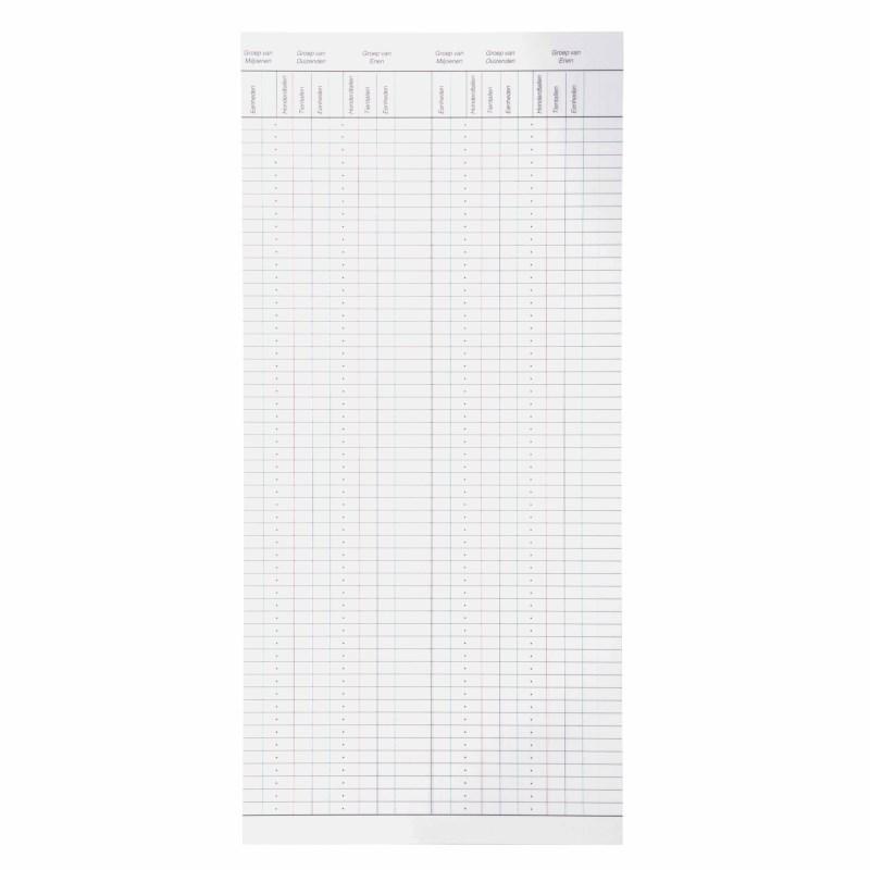 Formulare zum großen Rechenrahmen (50) (Niederländische sprache)