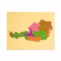 Puzzlekarte Österreich