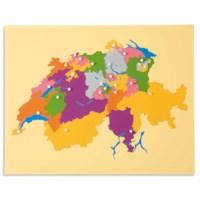 Puzzlekarte Schweiz