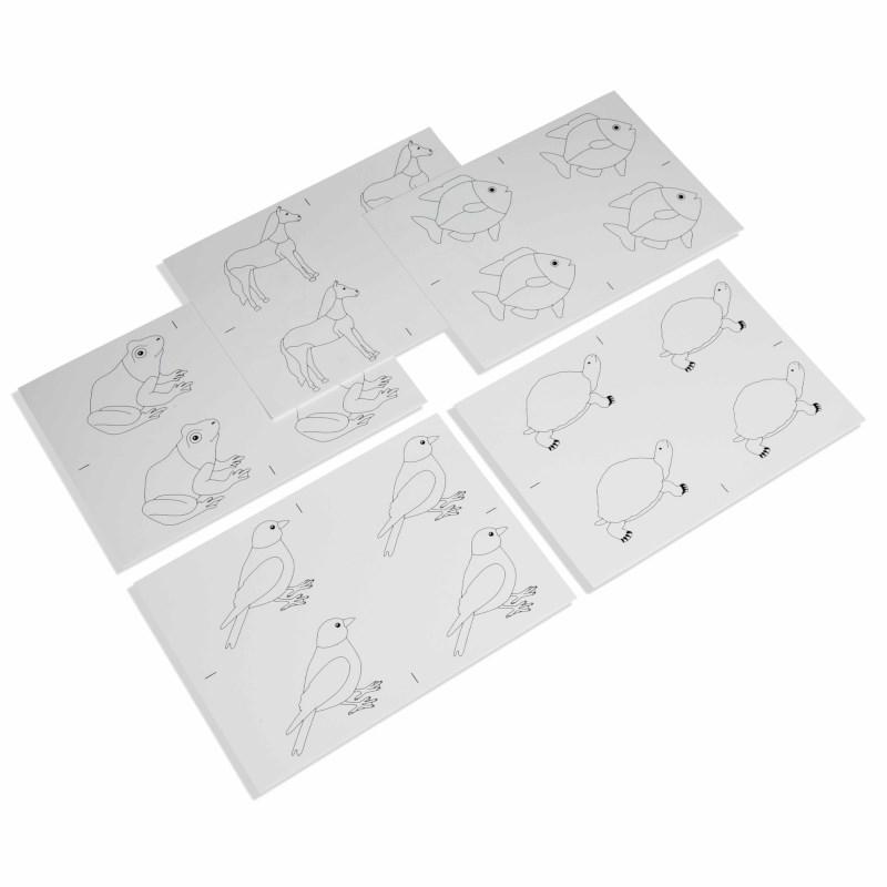 Kopiervorlagen für die Tierpuzzles