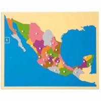 Puzzlekarte Mexiko