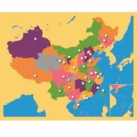 Puzzlekarte China