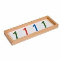 Kasten mit Zahlenkartensatz aus Kunststoff
