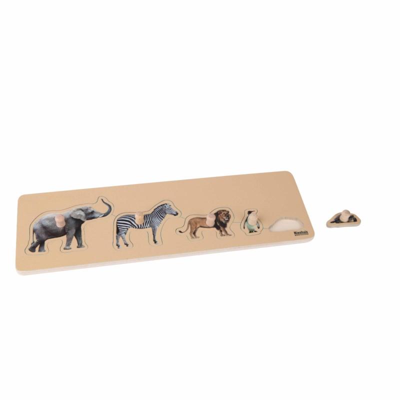 Kleinkindpuzzle - 5 Wildtiere
