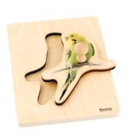 Kleinkind Puzzle - Sittich