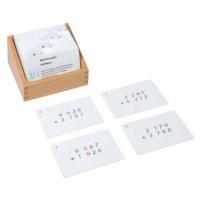 Kasten mit Aufgabenkarten für das Markenspiel