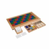 Kasten mit Aufgabenkarten für das große Multiplikationsbrett