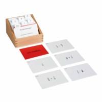 Kasten mit Aufgabenkarten für das Bruchrechnen 1