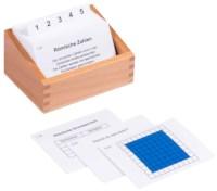 Kasten mit Aufgabenkarten für das Hunderterbrett mit Römischen Ziffern