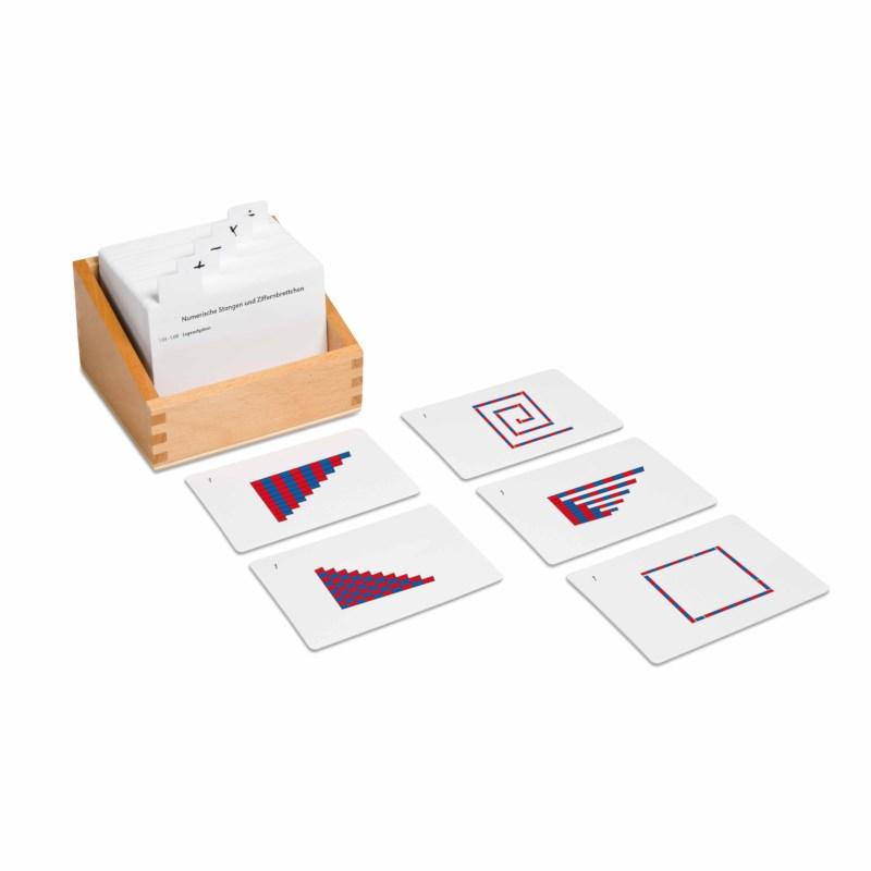 Kasten mit Aufgabenkarten für die numerischen Stangen