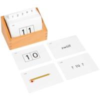 Kasten mit Aufgabenkarten für Seguintafeln I