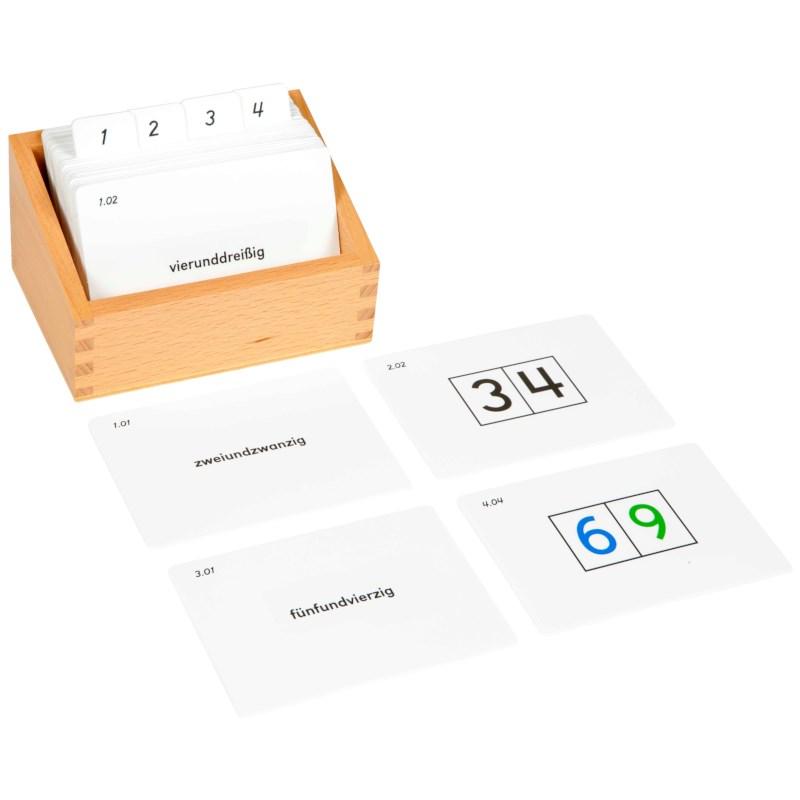 Kasten mit Aufgabenkarten für Seguintafeln II