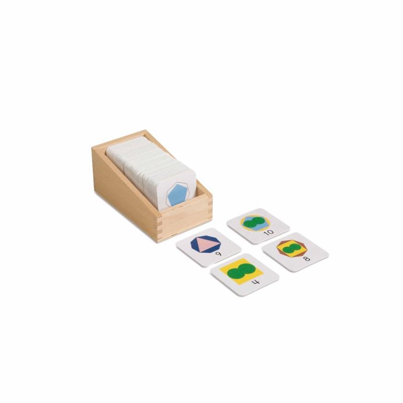 Kasten mit kleinen Karten mit Teiler