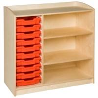 Schrank mit 10 Schubladen (101 cm)