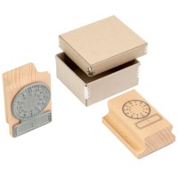 Uhr - Stempel analog - digital 24 Stunden
