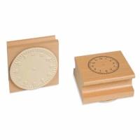 Uhrstempel - Arabische Ziffern bis 12 Uhr