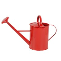 Kleine Gießkanne aus Metall (rot)