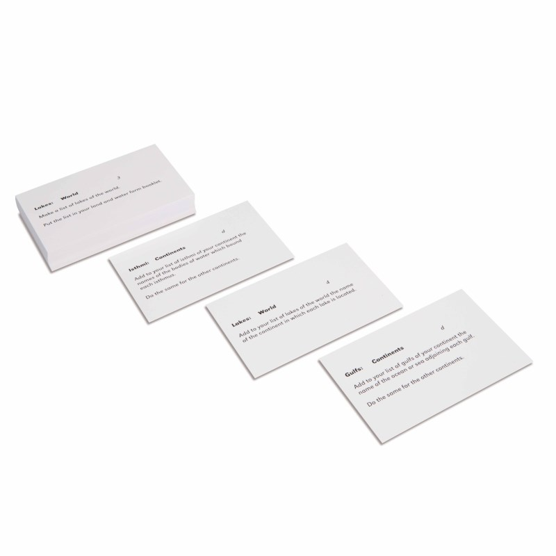 Land And Water Forms: Command Cards 2