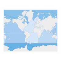 Kontrollkarte Meere und Ozeane - unbeschriftet