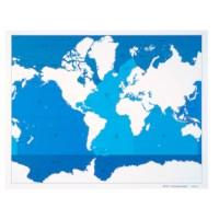 Kontrollkarte Meere und Ozeane - beschriftet
