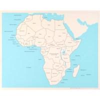 Kontrolkarte Afrika: beschriftet