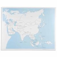 Kontrollkarte Asien - beschriftet