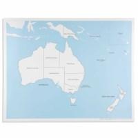 Kontrollkarte Australien - beschriftet