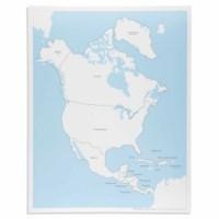 Kontrollkarte Nordamerika - beschriftet