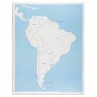 Kontrollkarte Südamerika - beschriftet