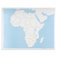 Kontrolkarte Afrika: unbeschriftet