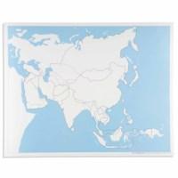 Kontrollkarte Asien - unbeschriftet